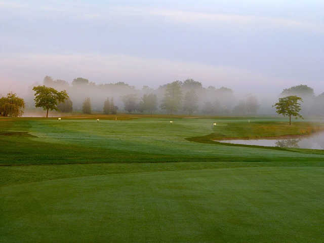 A foggy day view from St. Clair Parkway Golf Course
