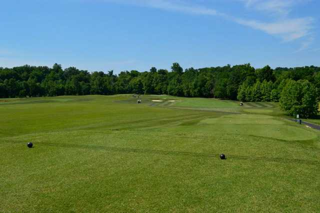 A view from a tee at Lucas Oil Golf Course