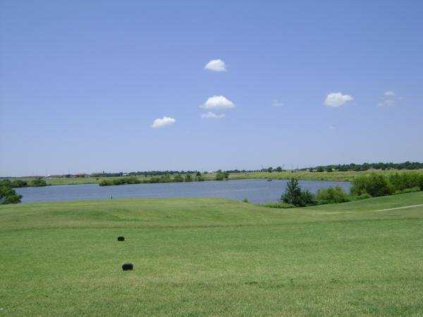 A view from the 10th tee looking out at Lake El Reno from Crimson Creek Golf Course