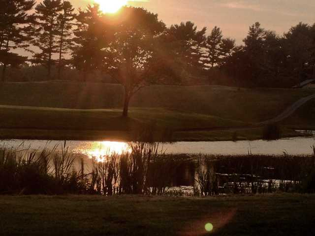 A sunny day view from Lakeville Country Club