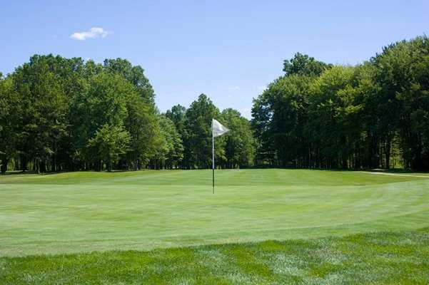 A view of a hole at Candywood Golf Club