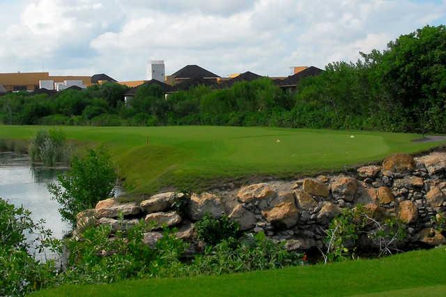 A view from a tee at El Camaleon Mayakoba Golf Club
