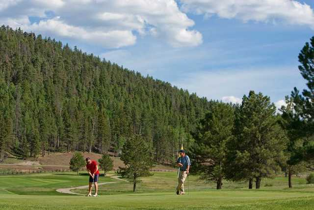 A view of a green at Angel Fire Resort Country Club