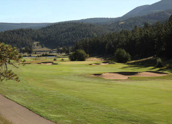 A view from the left side of a fairway at Angel Fire Resort Country Club