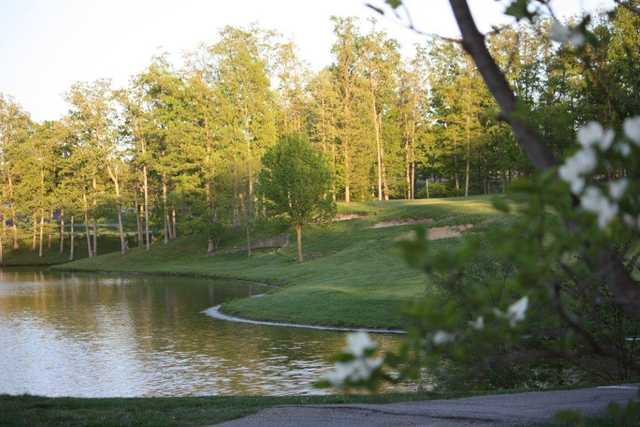 A view of the 18th hole at Country Lake Golf Course