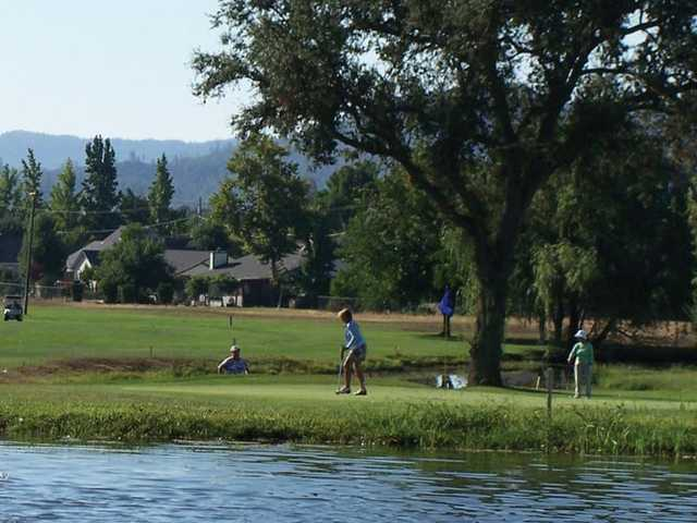 A view over the water from Hidden Valley Lake Golf Course