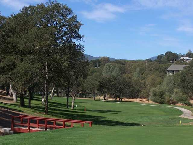 A view of a fairway at Hidden Valley Lake Golf Course