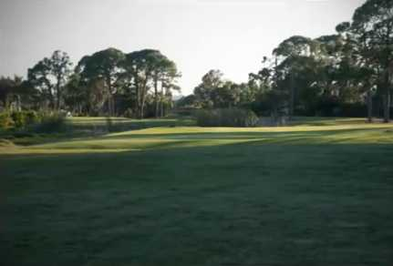 A view of a fairway at Riverbend Golf Course