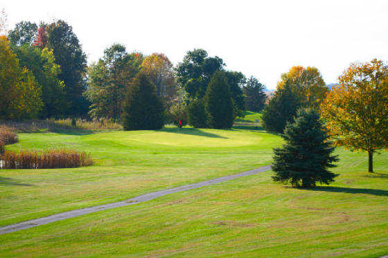 A view of a green at Pine View Golf Course