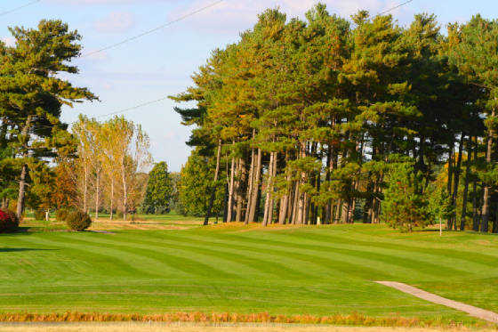 A view of a fairway at Pine View Golf Course