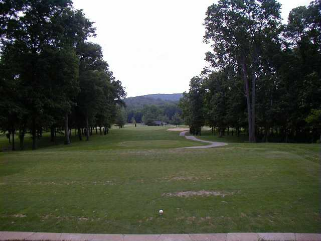 A view of a tee at Rolling Hills Golf Course
