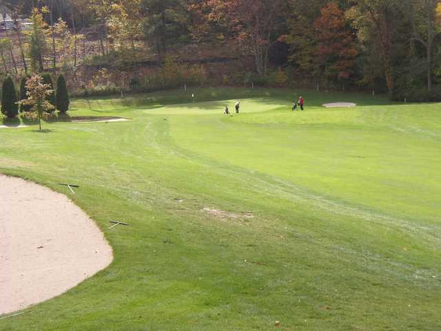 A view from the left side of fairway #5 at Norwich Golf Club