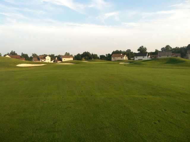 A view from a fairway at Links at Gateway.