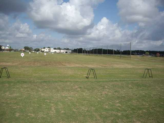 A view of the driving range at Gulf Links Golf Center