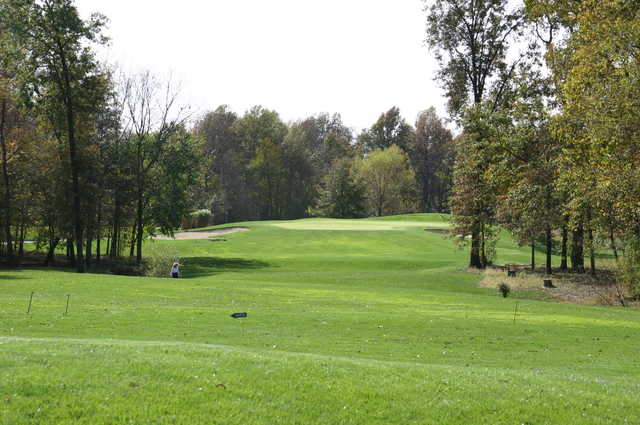 A view of green #15 from Championship at Governors Run Golf & Country Club