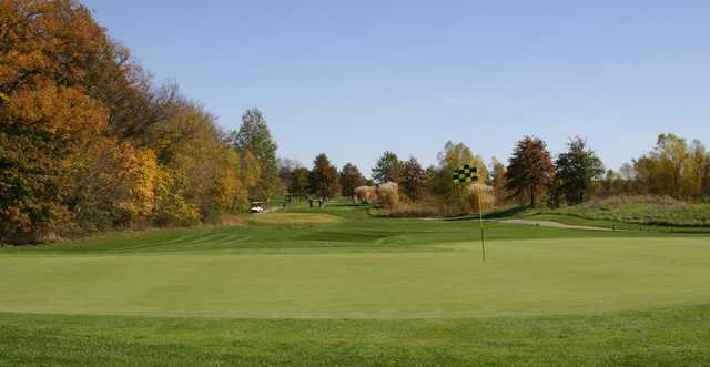 A fall view of the 2nd hole from Championship at Governors Run Golf & Country Club