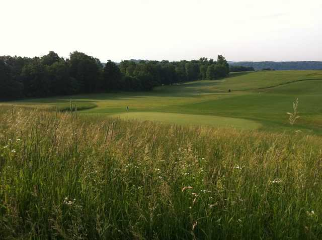 A view of a green at Deertrak Golf Club