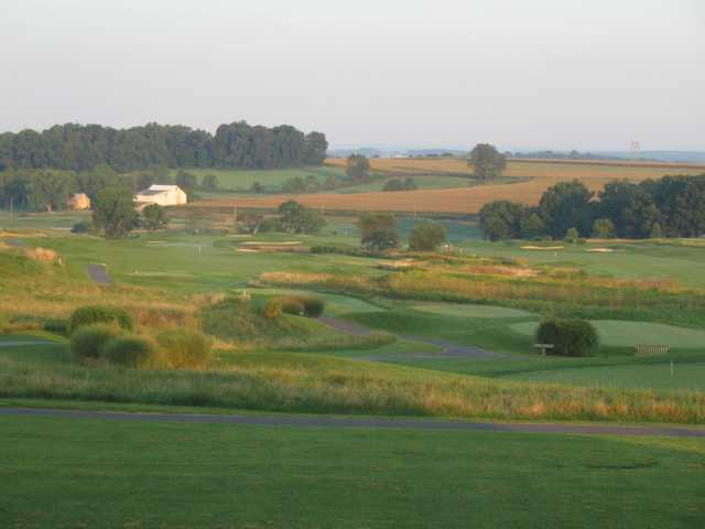 A sunny day view from Wyncote Golf Club
