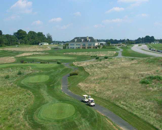 A view of a tee at Wyncote Golf Club