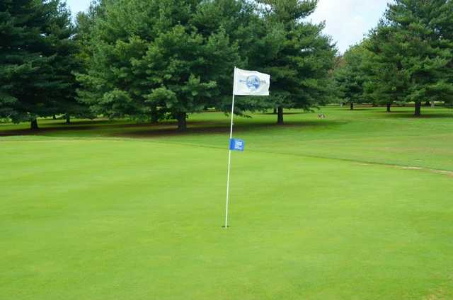 A view of green #1 at Hooper's Landing Golf Course