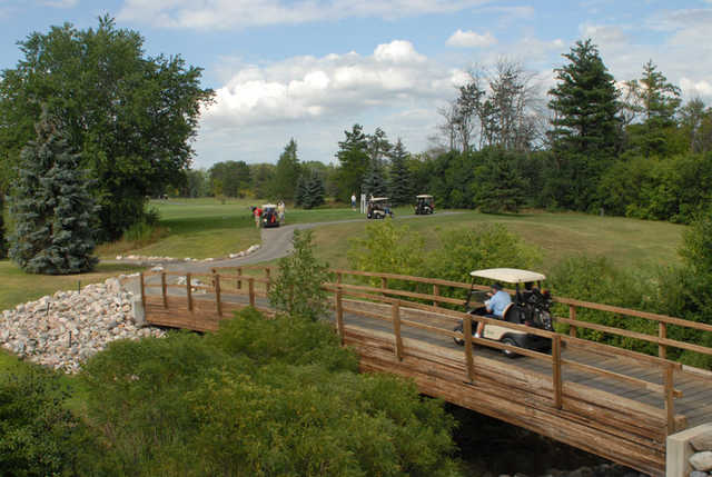 A view over a bridge at Glen Oaks Golf Course