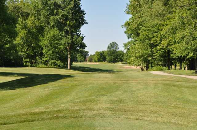 A view from a tee at Hawk's Tail of Greenfield