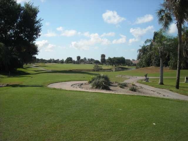 A view of a tee at Cape Royal Golf Club