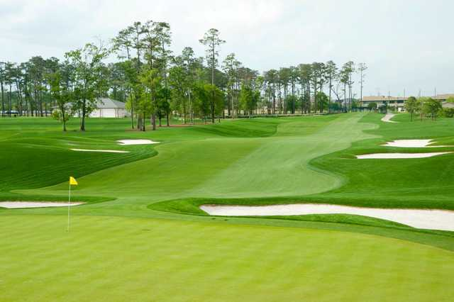 A view of the 1st hole at Member Course from Golf Club of Houston