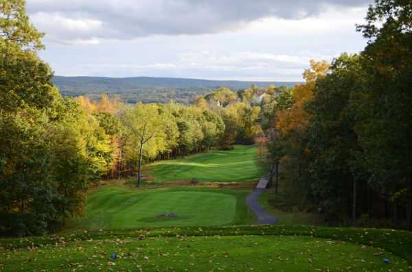 A view from a tee from Country Club of the Poconos Municipal Golf Course