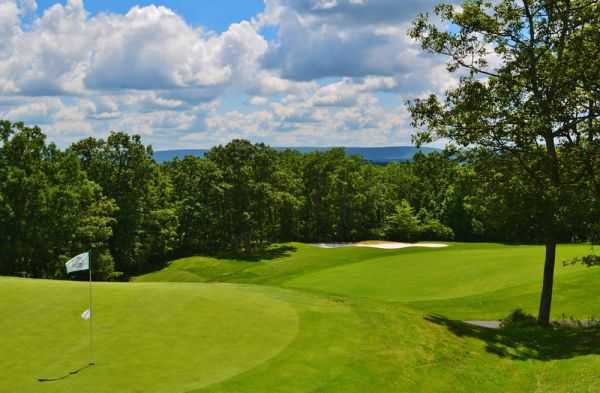 A sunny day view from Country Club of the Poconos Municipal Golf Course