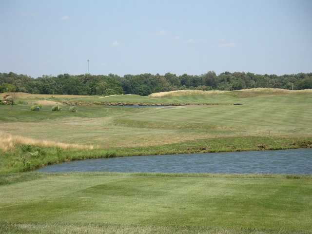 A view of a fairway at Cambridge Golf Club