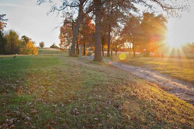 A sunny day view from Buffalo Rock Golf & Venue