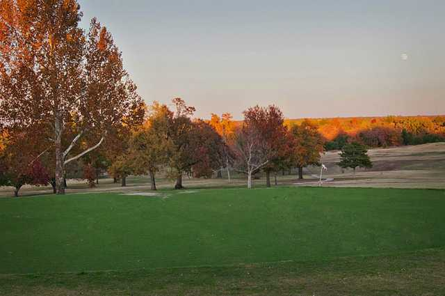 A view of a hole at Buffalo Rock Golf & Venue