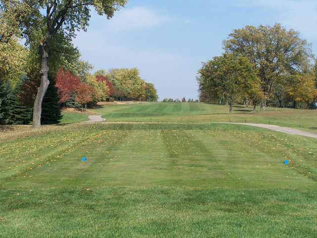 A view from the a blue tee at Bloomingdale Golf Course
