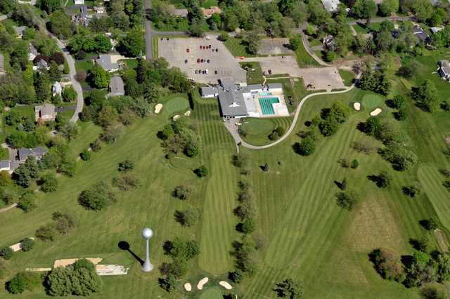 Aerial view from Edgewood Golf and Event Center