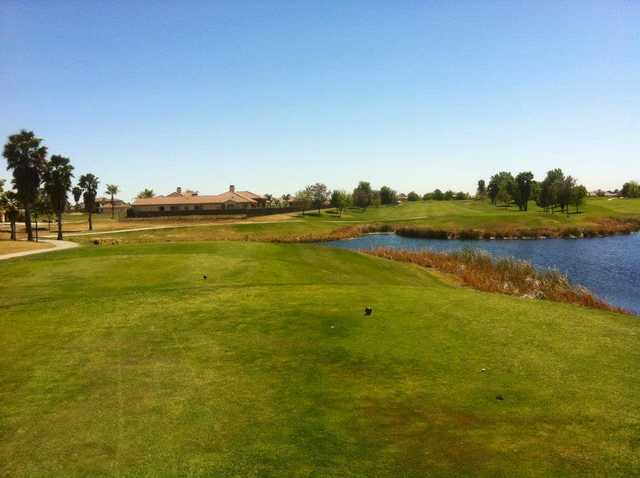 A view from a tee at Pheasant Run Golf Course