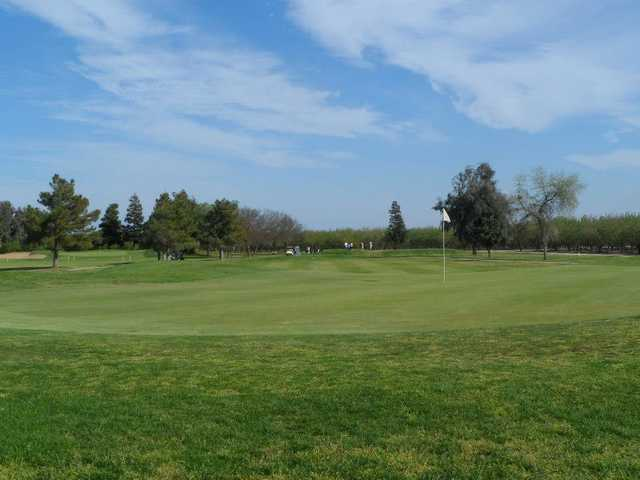 A view of the 3rd green at Madera Golf Course