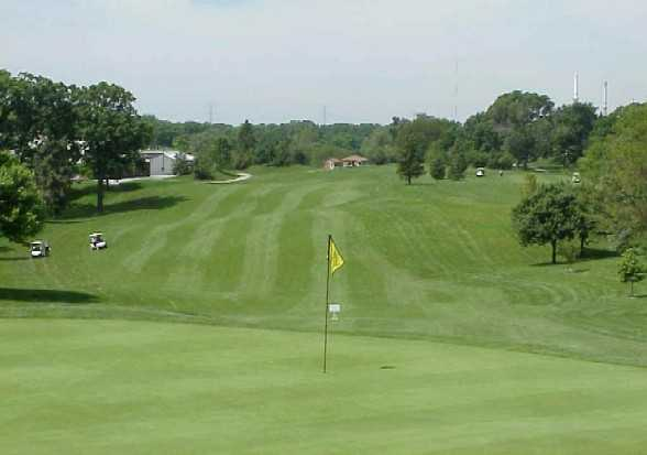 A view of hole #14 at Big Run Golf Club