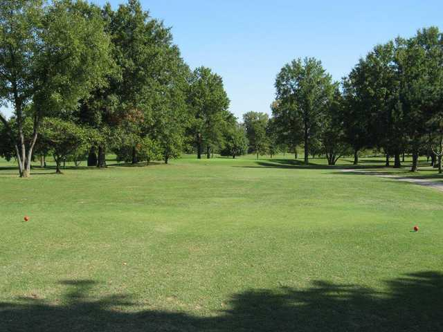 A view from a tee at Eighteen from Riverside Golf Club