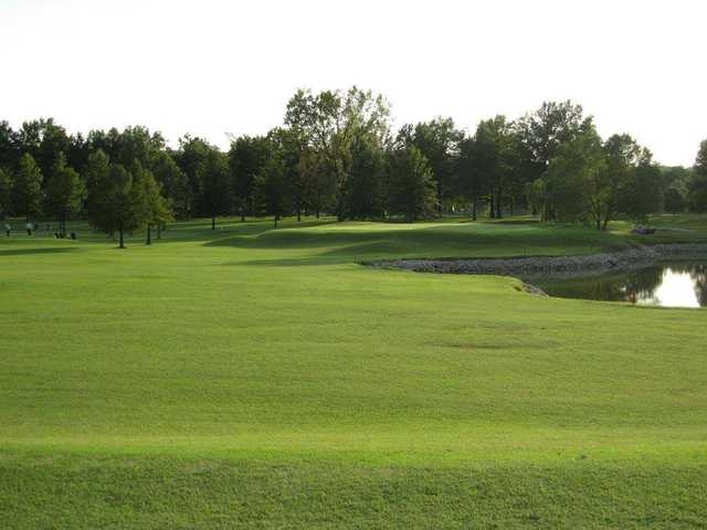 A view from a fairway at Eighteen from Riverside Golf Club