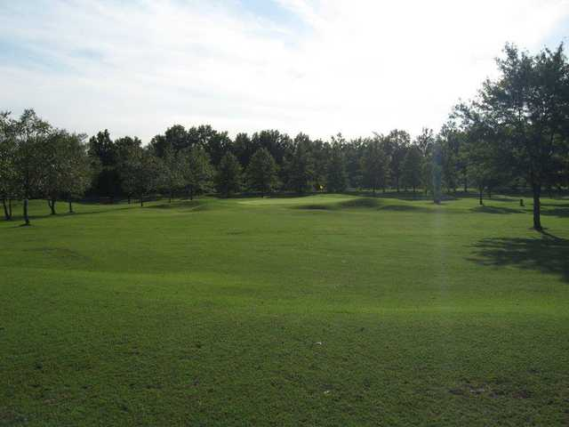A sunny day view from Eighteen at Riverside Golf Club