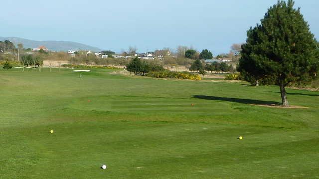 Balcarrick GC: 12th hole with Lambay Island in background (David Rafferty)
