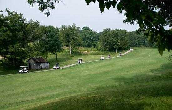 A view of a fairway at Bear Creek Valley Golf Club