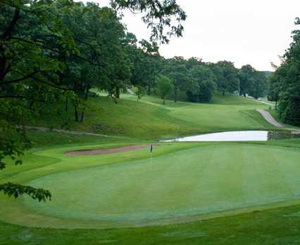 A view of a green at Bear Creek Valley Golf Club