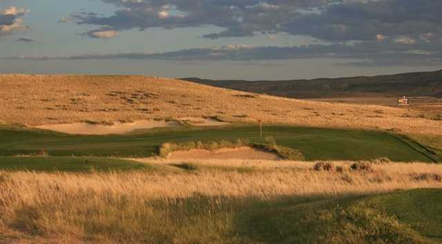 A view of a green at Rochelle Ranch Golf Course (WyomingTourism)