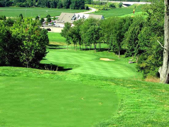 A view from a tee at Deer Ridge Golf Club