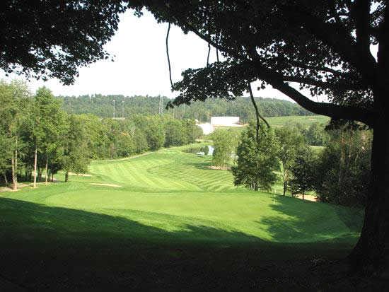 A view of a fairway at Deer Ridge Golf Club