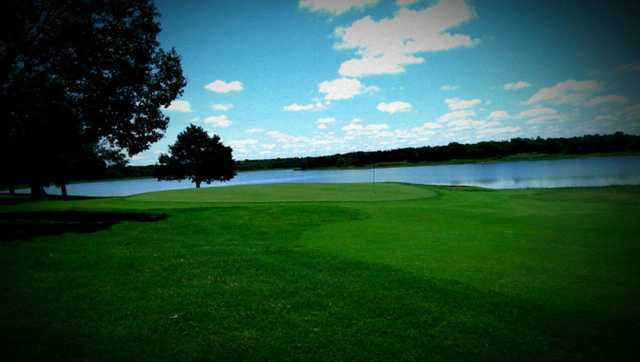 A view of the 9th green at Guthrie Golf & Country Club