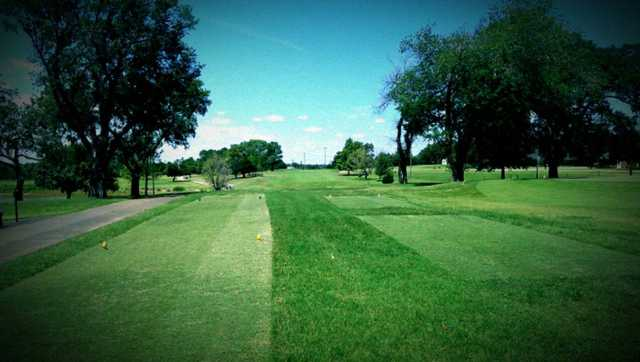 A view from the 1st tee at Guthrie Golf & Country Club