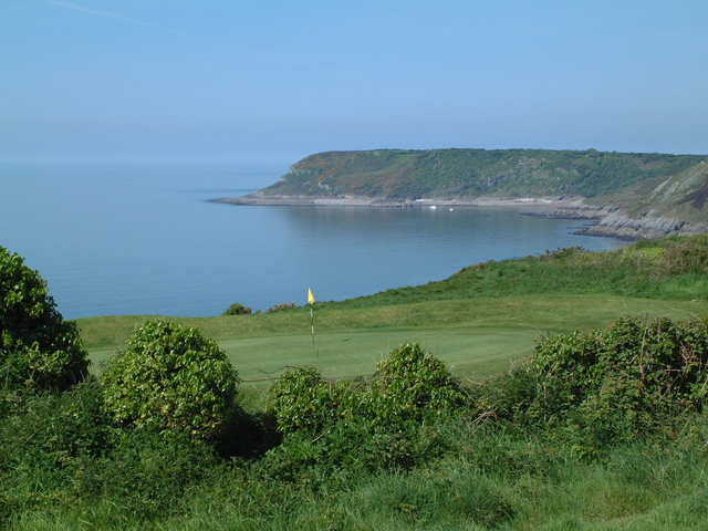 Langland Bay GC: 8th hole overlooking Caswell Bay (John Latham)